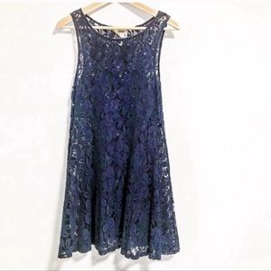 Free People. Miles of Lace Lace top layer dress.